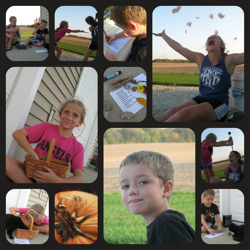 Fall scavenger hunt collage