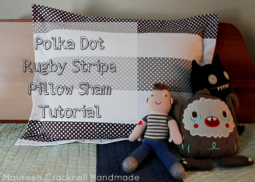 Riley blake pillow sham tutorial